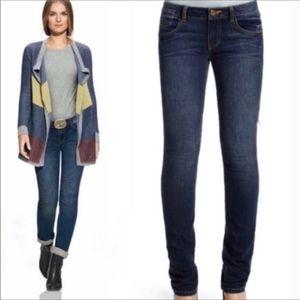 CAbi #514 Blue Moon Indie Dark Wash Mid Rise Jeans